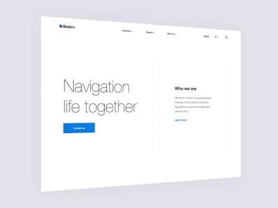 Landing Page - BoldLife project animation website landing web minimal ux ui clean