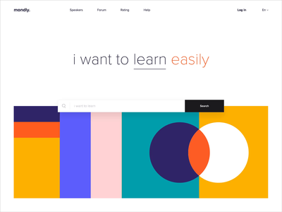 Web Platform - mondly. landing animation website web illustration minimal design ux ui colors