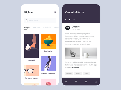 Mobile App - Vision design mobile app clean illustration minimal ux ui colors