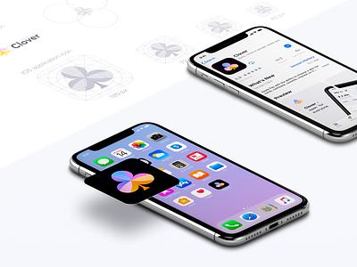 App icon guideline - Clover design colors clean visual exploration brand brand identity symbol icon logo branding