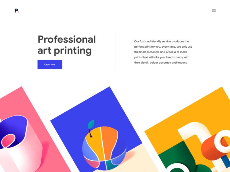 Landing Page - Print design page clean colors website landing minimal illustration web ux ui