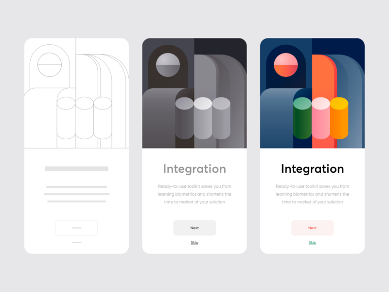 Onboarding process - Mobile app design process onboarding minimal colors app mobile illustration ux ui clean