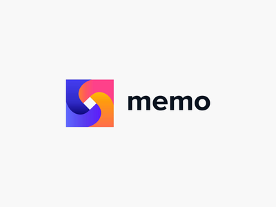 Branding logo - Memo identity branding ux ui vector logo animation illustration minimal colors clean