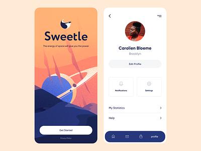 Mobile App - Sweetle project illustration ux colors mobile app design minimal clean ui