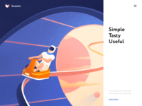 Sweetle About Page page website landing web illustration minimal design ux ui colors