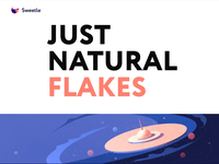 Packaging design - Natural Flakes animation website landing web illustration minimal design clean colors ui