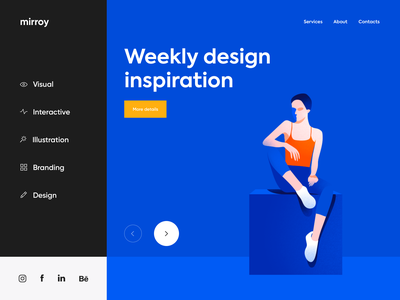 Web app - mirroy page website landing web illustration minimal design clean ux ui