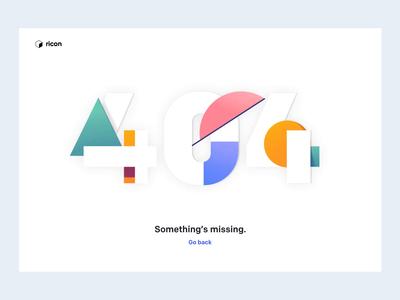404 - Web page error 404 404page colors page design animation website landing web minimal ux ui