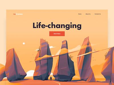 Landing Page - TheCronos design clean colors illustration website landing web minimal ux ui