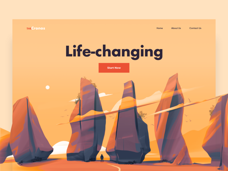 Landing Page - TheCronos design clean colors illustration website landing web minimal ux ui