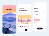 Mobile App - Infinito design ux mobile app design colors clean minimal illustration app mobile ui