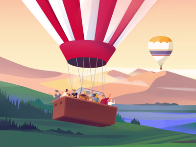 Our Small Story colors clean motion animation web branding illustration