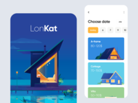 Mobile application - LonKat ux ui colors clean minimal illustration mobile design mobile app mobile