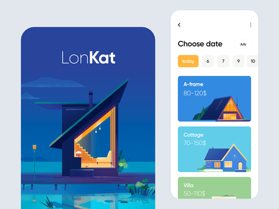 Mobile application - LonKat ux ui colors clean minimal illustration mobile design mobile app mobile