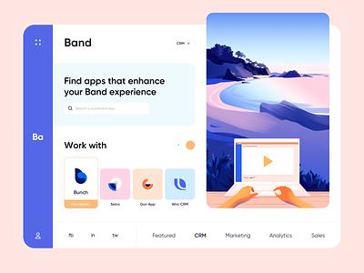 Web app - Band gradient app website minimal clean ui ux colors illustration web web app design web app
