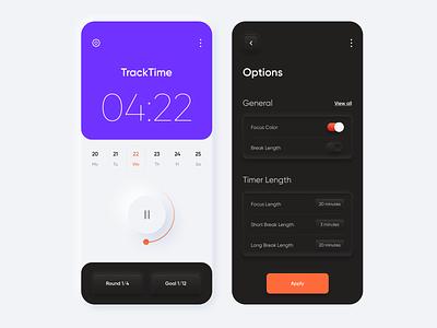 Mobile app - Tracker app design minimalistic clean ui ux neumorphic neumorphism mobile app design mobile mobile app minimal