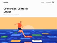 Conversion-Centered Design - Blog product e-commerce website design web design web colors landing website clean design minimal illustration