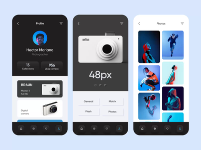 Mobile application - CameraSync application mobile animation minimal ui ux clean design motion motion design mobile design mobile ui mobile app app
