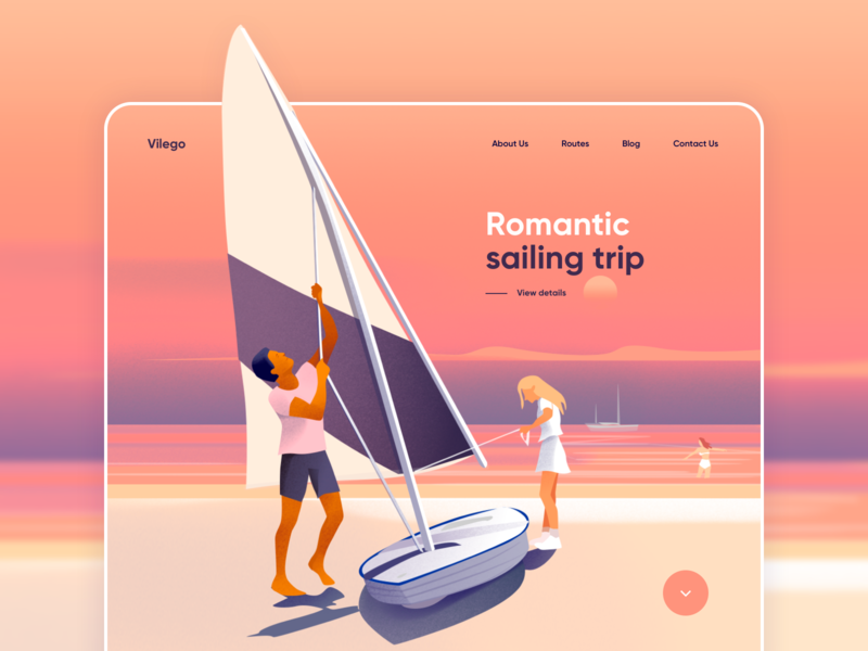 Landing page - Vilego colors gradient website design web design landing design landing page website landing web design clean illustration