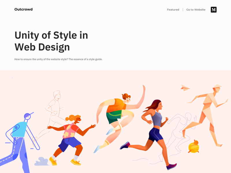 Unity of Style in Web Design - Blog website design web design minimal clean ui branding landing website colors design web illustration