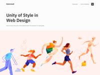 Unity of Style in Web Design - Blog website design web design minimal clean ui branding landing website colors design web illustration