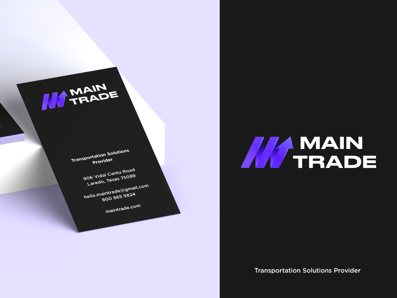 Logo & Business Card - Main Trade brand business card branding design brand identity brand design logotype logo design minimal flat clean icon typography branding logo