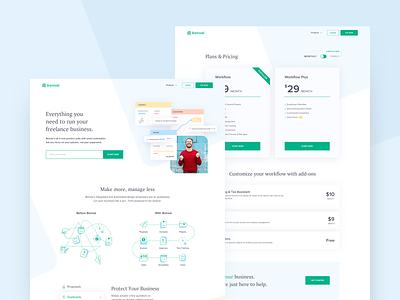 Website Design - Bonsai clean webdesign websites web design ux ui landing web minimal design product design website design website
