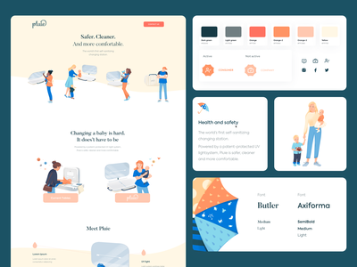 Visual & Brand Identity - Pluie landing page design landing page website design web design landing typography design branding website colors clean web illustration