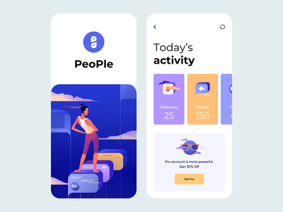 Mobile App - PeoPle minimal ux ui clean illustration mobile application design mobile application application design applications application mobile design mobile ui mobile app design mobile app mobile