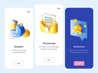 Mobile App - Onboarding with 3D application design application app design mobile application design mobile application ux ui minimal illustration motion graphic motion design motion 3d artist 3d animation 3d mobile app design mobile design mobile app mobile ui mobile