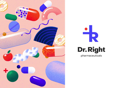 Logo Design - Dr. Right branding design brand design brand identity logo design branding clean ui animation logo animation logotype logo design illustration minimal icon typography logo branding