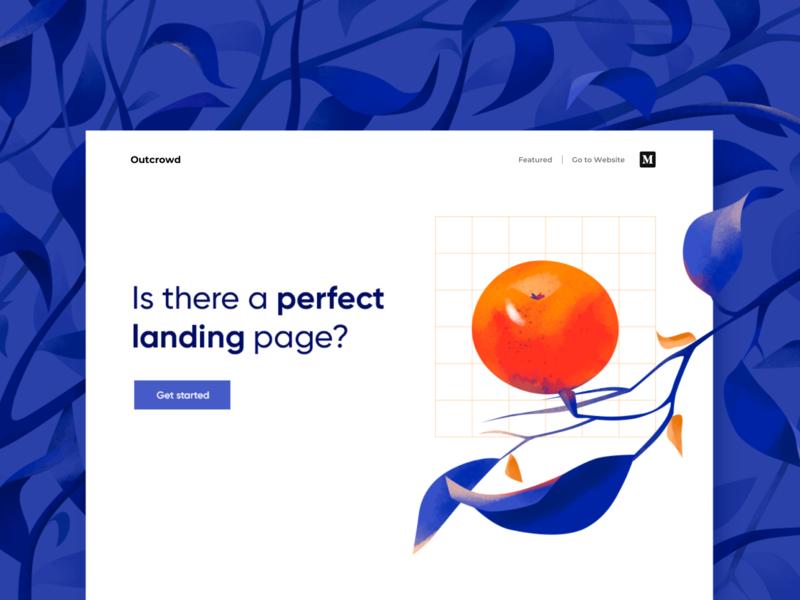 A Perfect Landing Page - Blog Post illustrations website blog design ux ui clean minimal illustration web design web landingpage landing page design landing page landing