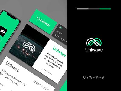 Logo & Branding - Uniwave logodesign design clean flat minimal icon font typography logo design logotype logo branding design brand identity brand design branding brand