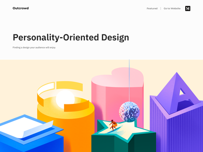 Personality-Oriented Design - Blog Post clean minimal ux ui landing page design landing page website design landing website web illustration web design webdesign design