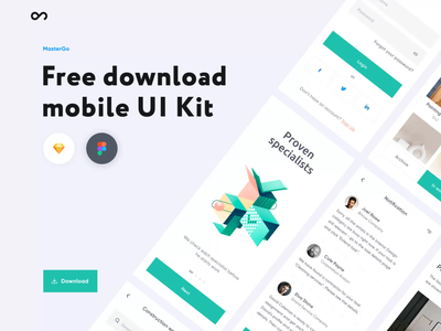 Free Mobile UI Kit - Outcrowd mobile applications motion design motion animation app minimal ux ui clean illustration application ui application design application mobile application design mobile application mobile app design mobile design mobile app mobile ui mobile