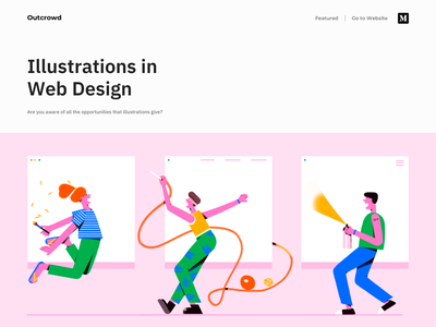 Blog Post - Illustrations in Web Design website minimal webdesig web branding blog illustration clean colors design