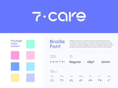 Branding - 7 care clean colors icon typography minimal fonts font design branding design brand identity brand design branding logodesign logo design logotype logo