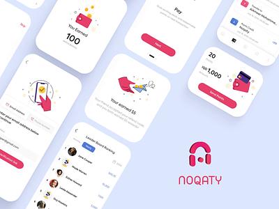Noqaty - Cashback Mobile App 2d 2d art animation illustration design illustration mobiledesign uxdesign uiuxdesign uiux ux ui webdesign mobile application mobile app mobile design