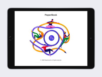 PaperBook -  Web App for illustrators. uxdesign uiux ux ui design webdesign application colorful colors illustraion webapp design webapplication webapp web illustrator