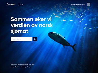 Sjøsmak - Web design for Norwegian fish delivery minimal webapp web website design uxdesign uidesign ux ui landingdesign landing landingpage webdesign