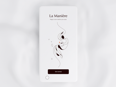La Maniere - eCommerce Mobile App illustration mobile app design uiux ux ui smooth animation animation motion waves smooth mobiledesign design ecommerce shop ecommerce app beauty ecommerce mobile app mobile