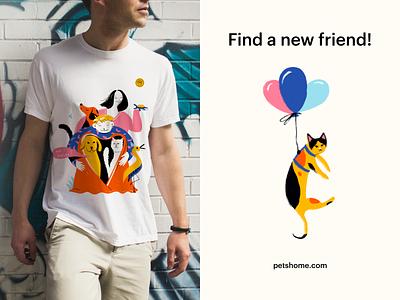 Pet's Home - Branding merch design merch tshirt banner colors typography design logo design logo illustration illustrations branding