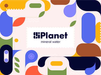 Planet - Branding for Mineral Water productdesign product ui brand design typography brand identity logo design colors design color illustrator sketch illustration logo branding