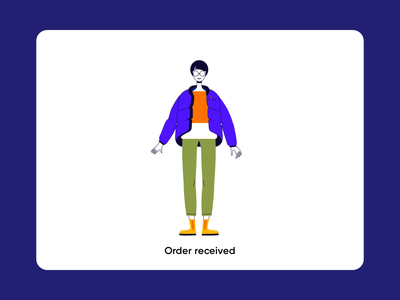 Outfit - Animated Character colorful art colorful color illustration character outfit cloth illustrator colors ui animated character character motion illustration animation