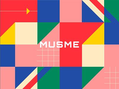 Musme - Design for podcast service branding customization ui colors mobile app design mobile app logo design podcast preloader illustration pattern pattern pattern design icons color colorscheme shape logo