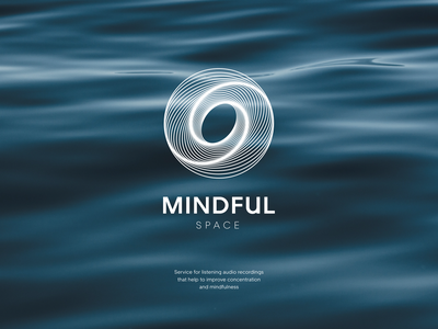 Mindful Space - Branding for service for meditation. icon brand identity sketch icon design icon set icons typography logo clean minimal meditation app meditation logodesign brand design brand branding