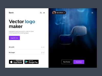 Barch - Web design & 3D logo motion design uiux uidesign uxdesign logodesign web app 3d modeling ux ui 3d logo animation motion logo 3d web design