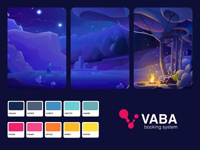 VABA - Illustrations and Web App Design web app service app booking logo logodesign branding color palette web platform colors ui illustrator illustrations web designer web design