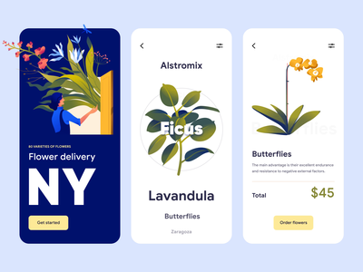 Flowers Kiss - Mobile App Design animation ui ux illustration motion graphics motion graphic motion design motion application app design design mobile ui mobile app design mobile design mobile app mobile