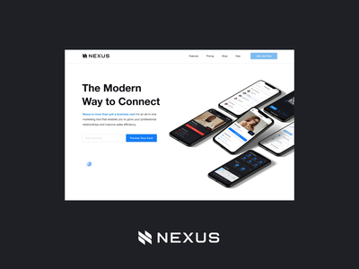Nexus - Web and Mobile design clean minimal animation explainer animation motion app store mobile app webdesign mobile design mobile business card business app nexus ui explainer video explainer uxdesign ux